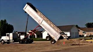 Semi Truck Dumping Gravel