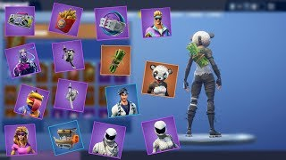 Fortnite - All v5.2 Skins + Back Blings! (Sushi Chef, Bamboo...)