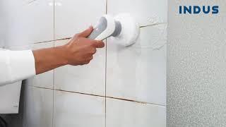 인더스 욕실 청소기로 타일 청소하기
