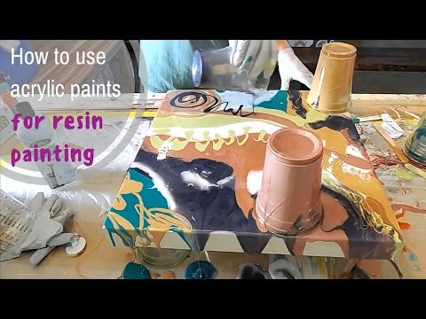 How to use acrylic paints for resin painting