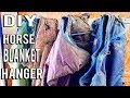 How To DIY A Horse Blanket Hanger | Budget Equestrian DIY