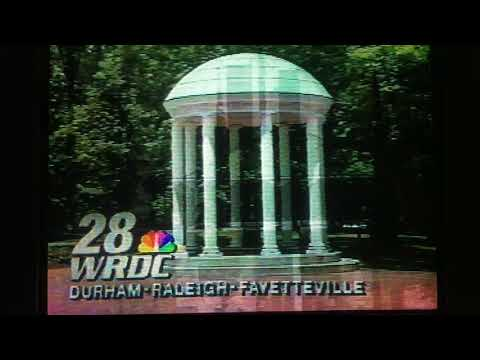 WRDC-TV 28 commercials and sign-off (taped February 13-14, 1995)