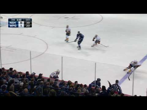 Trouba stands up Ribeiro with huge open-ice hit
