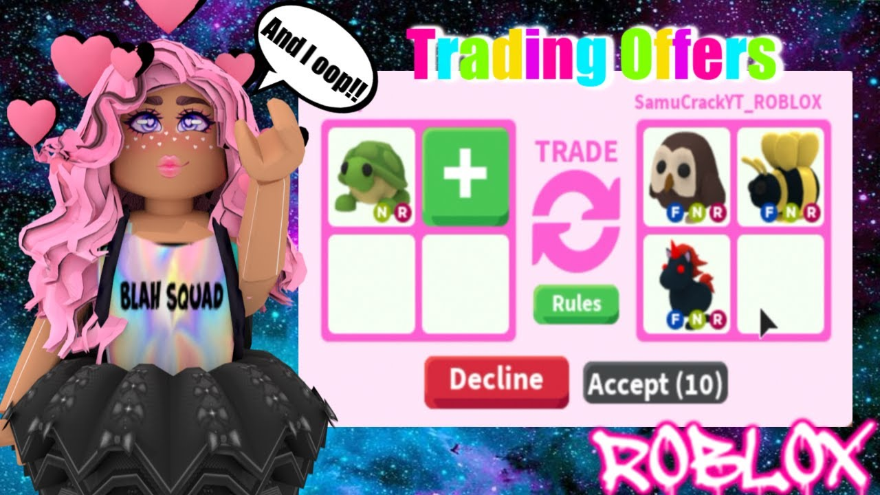 What People Trade For Neon Turtle Roblox Adopt Me Youtube