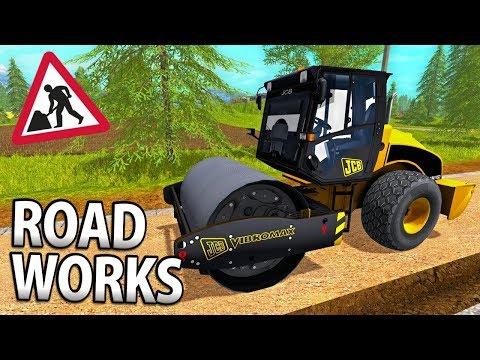 ROADWORKS IN FARMING SIMULATOR 17 | MIXING ASPHALT