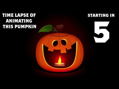 Pumpkin Gif Animation Time lapse