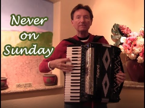 Never on Sunday & New Roland accordion FR-8x Delivery for Tom