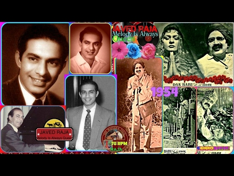 TALAT MAHMOOD-Film-DAAK BABU-{1954}~Ye Kya Hai Dhang Zamane Ka-[ A Tribute To Great Legend ]