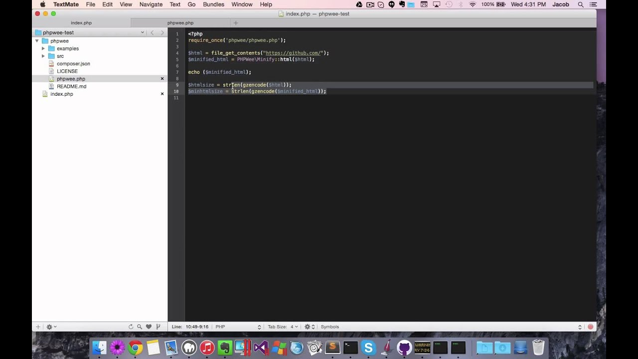 PHPWee - Minify HTML, HTML5, CSS and Javascript using PHP - YouTube