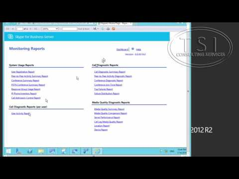 Monitoring Skype For Business By David Papkin