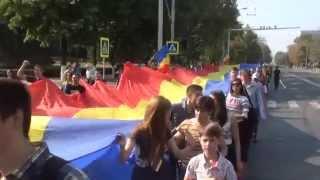 La Chișinău a avut loc Marșul Tricolorului #Basarabia