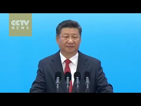 Chinese President Xi Jinping speaks at B20 Summit opening ceremony
