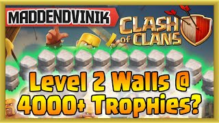 Clash of Clans - JMS Base w/ Level 2 Walls at 4000 Trophies? It Defends! (Gameplay Commentary)
