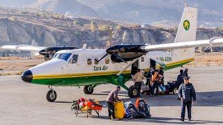 Tara Air flight from Pokhara to Jomsom, Nepal aboard De Havilland Canada DHC-6 Twin Otter
