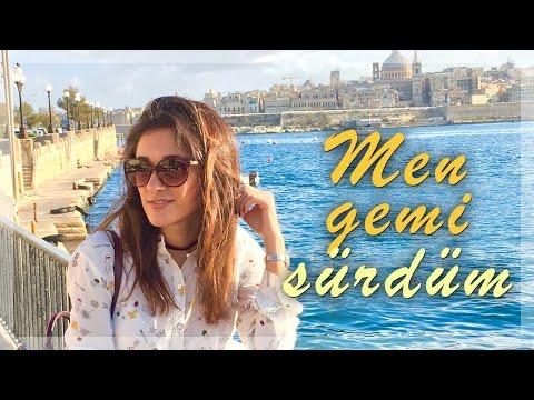 Mən gəmi sürdüm   Malta vlog gün 1