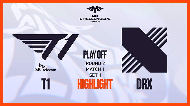 T1 VS DRX | PLAYOFF ROUND2 MATCH1 SET1 하이라이트 04.05 | 2021 LCK CL Spring