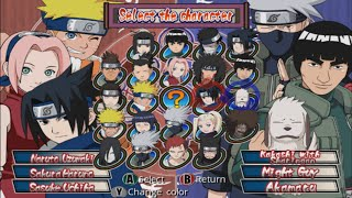 Naruto: Clash of Ninja 2 Opening and All Characters [GameCube]