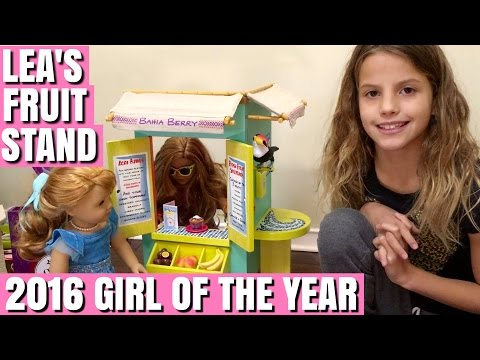 2016 Girl Of The Year Lea Clark's Fruit Stand - American Girl Doll