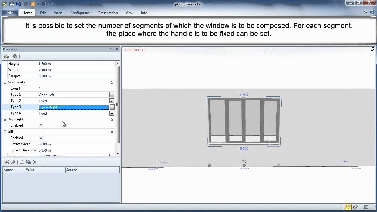 11th Video tutorial pCon planner 6 4 - Wall Elements