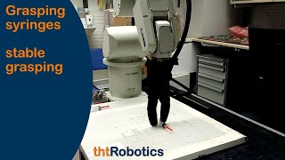Adaptive Robotic Gripper. Grasping syringes and medicine containers
