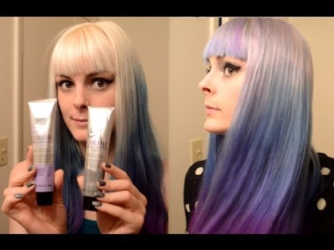 Dyeing My Hair Silver Blue And Purple Ombre Hair Dye Tutorial