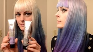 Dyeing My Hair Silver, Blue, and Purple~ Ombre hair dye tutorial