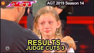RESULTS JUDGE CUTS Week 3 Who Advanced to Live Show? America's Got Talent 2019 Judge Cuts AGT