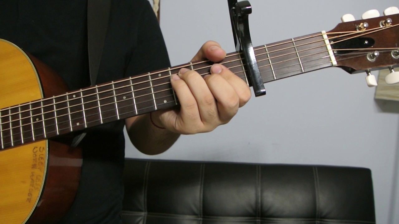 Guitar Chords With You Chris Brown