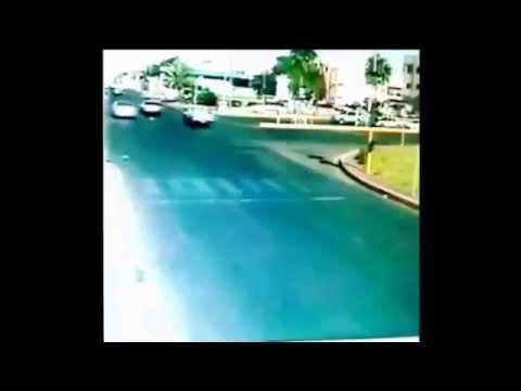 Traffic camera crash in Saudi Arabia