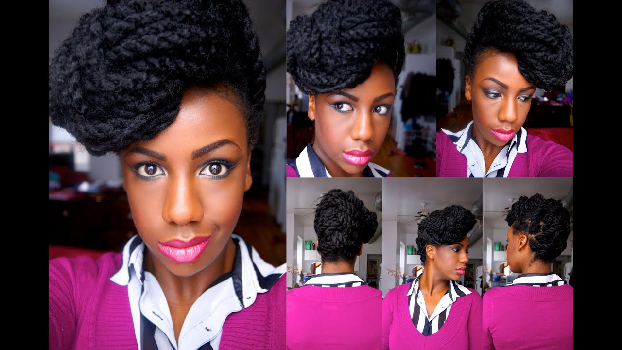 Havana Marley Twists Fishtail Braid Updo YouTube