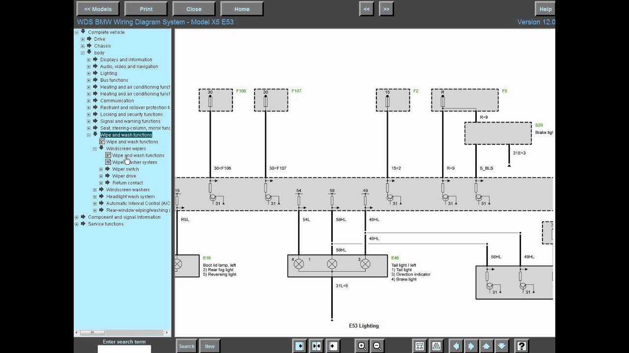 bmw wds  bmw wds 12 0 wiring diagram system electrical 1997 bmw