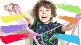 Английский для самых маленьких, учим цвета с помощью слайм, английский для детей и малышей