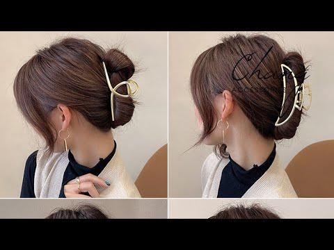 Cách kẹp tóc càng cua hàn quốc cho tóc layer | Tóm tắt các nội dung liên quan đến tóc hàn quốc nữ ngang vai đầy đủ