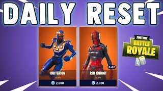 RED KNIGHT & NEW CRITERION SKIN - Fortnite Daily Reset & NEW Items in Item Shop