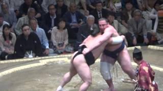 20150511 大相撲夏場所2日目 日馬富士vs栃ノ心.