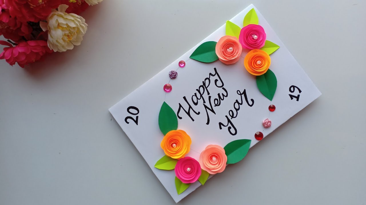 Beautiful Handmade Happy New Year 2019 Card Idea Diy Greeting Cards For New Year