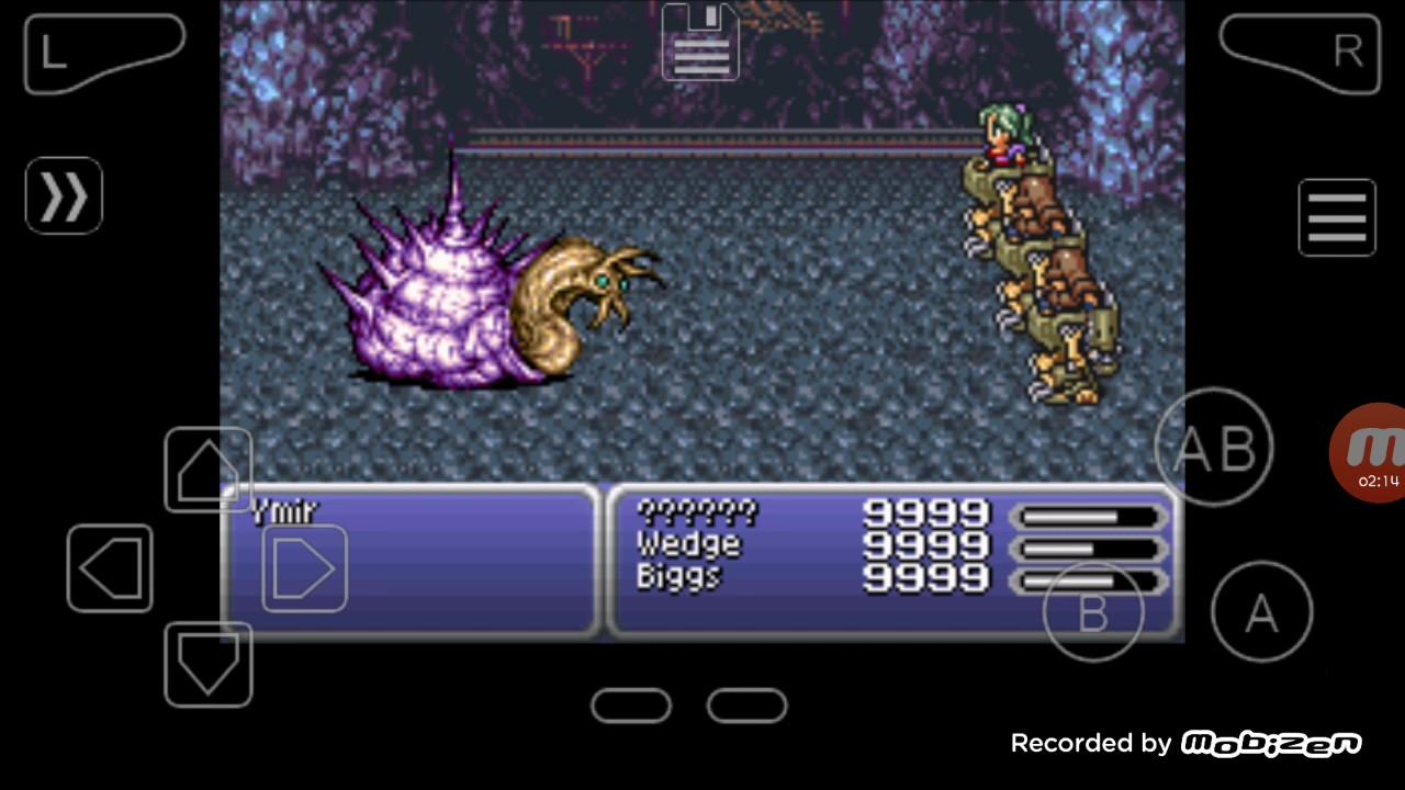 Final Fantasy 6 Rom final fantasy vi gba cheat infinite hp 9999 - youtube