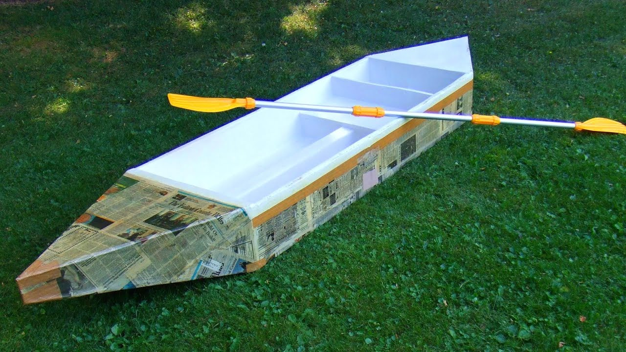 How to build a durable cardboard boat - YouTube