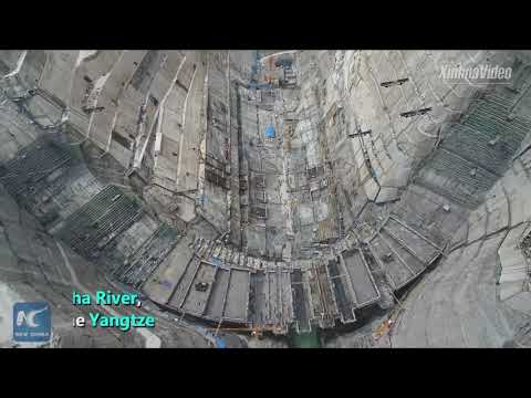 World's second largest hydropower station sees intake tower complete