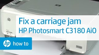 Fixing a Carriage Jam - HP Photosmart C3180 All-in-One Printer