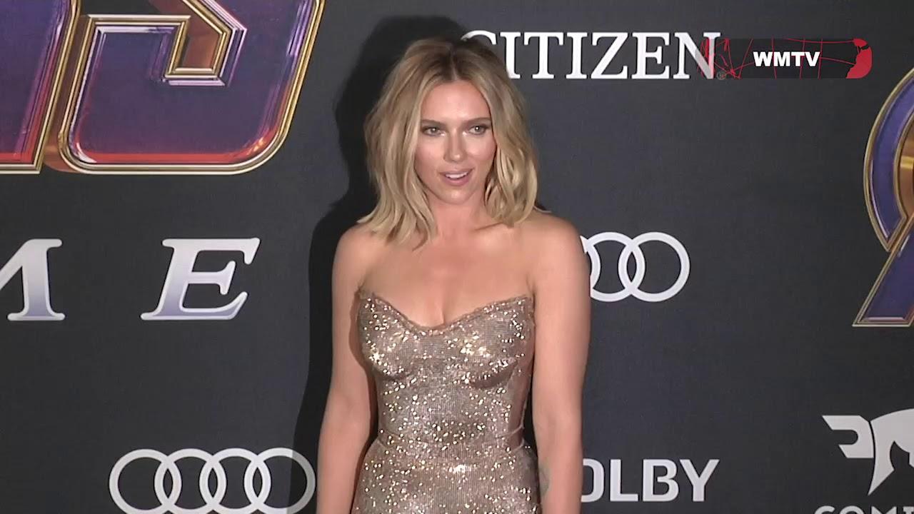 Scarlett Johansson Colin Jost Arrive At Avengers Endgame World Premiere Youtube
