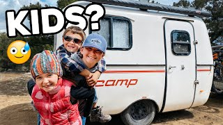 KIDS in the SCAMP?😅🍼 // Off-Grid Nomad FAMILY OF 5 (+ Airstream TOUR!!)