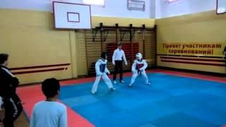 соревнование ТХЭКВОНДО лицей Петру Мовилэ спарринг 18