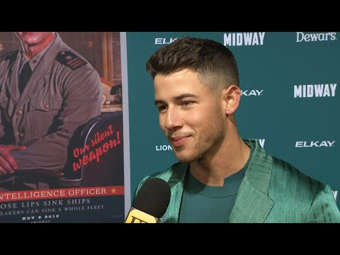 Nick Jonas Reveals Wife Priyanka Chopra Was Into His Mustache Look in 'Midway' (Exclusive)