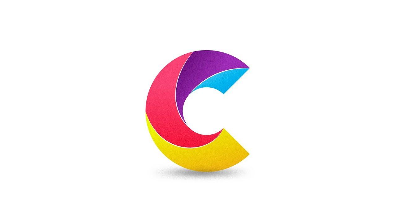 Letter C Logo Design In Adobe Illustrator Cc 2019