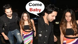 Varun Dhawan Enters Hand In Hand With Girlfriend Natasha Dalal At Dinesh Vijan Birthday Party