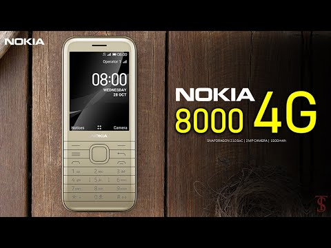 Nokia 8000 4G Price, Official Look, Design, Specifications, Camera, Features