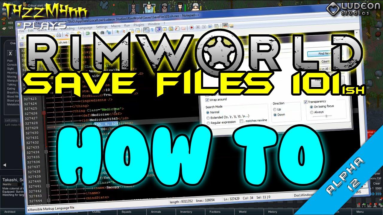 RimWorld Save Files 101 ish