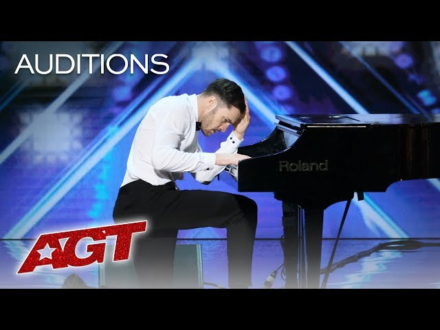 Surprise! This Piano Playing Guy Turns Into A Fierce Dancer! - Americas Got Talent 2019