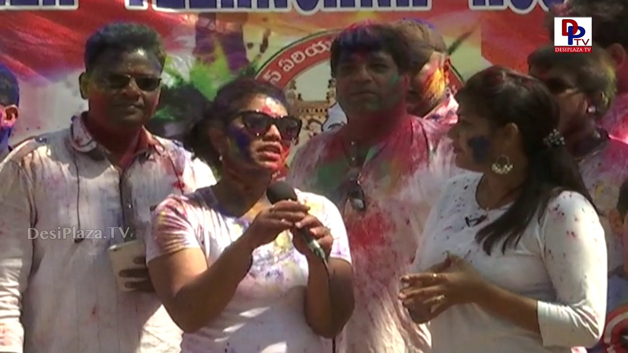 NRI's in Dallas never forget Indian festivals says a Young lady at Data Holi Celebrations || DPTV